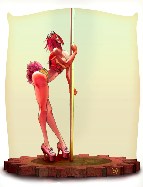 Steampunk Pole Dance Leen Isabel